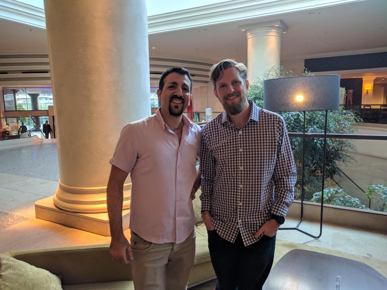 אלעד לוי בפגש עם יוצר וורדפרס Matthew Charles Mullenweg.